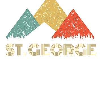 Retro City of St. George Mountain Shirt by tedmcory