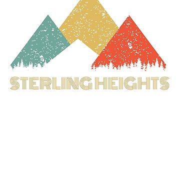 Retro City of Sterling Heights Mountain Shirt by tedmcory