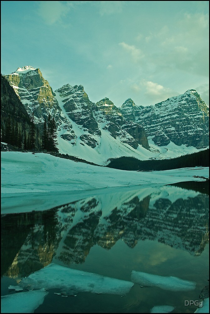 The Melt has Begun - Moraine Lake, Alberta by DPGg