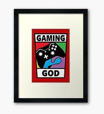 Gaming God Framed Print