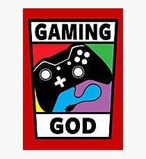 Gaming God Photographic Print
