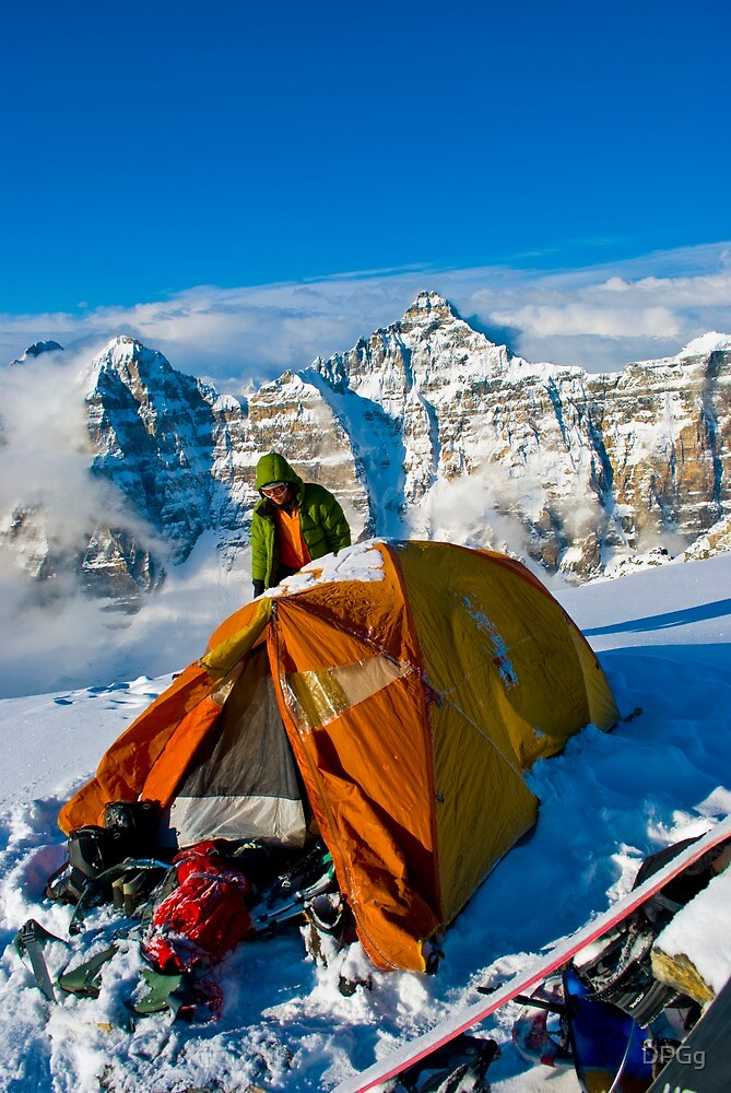 Base Camp...At the Top - Back Country, Canadian Rockies by DPGg