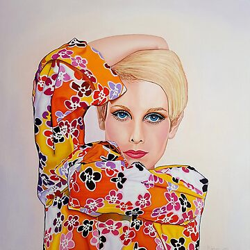 "Twiggy ""The face of 1966"" by ArtbyCPolidano"