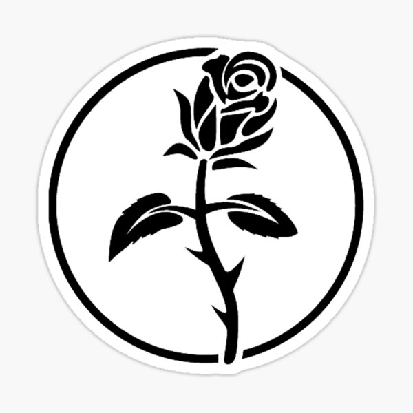 Símbolo de la rosa negra anarquista Pegatina