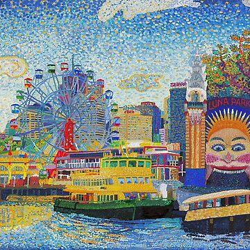 Luna Park Sydney by tobycentreart
