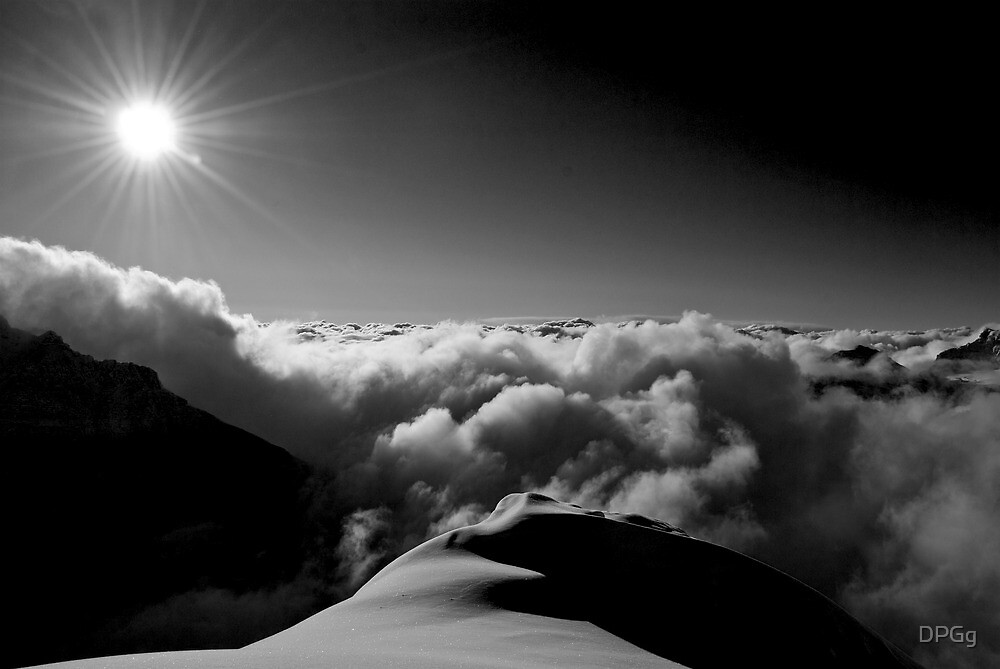 Standing on the Clouds - Back Country, Canadian Rockies    by DPGg
