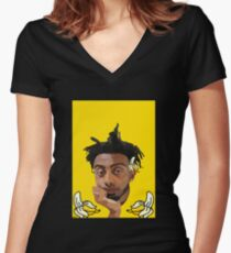 Aminé Women's Fitted V-Neck T-Shirt
