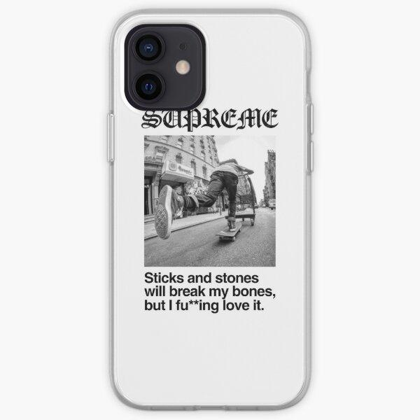 SUPREME METAL iPhone Soft Case