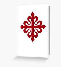 calatravas cross Greeting Card
