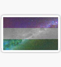Genderqueer Galaxy Flag Sticker