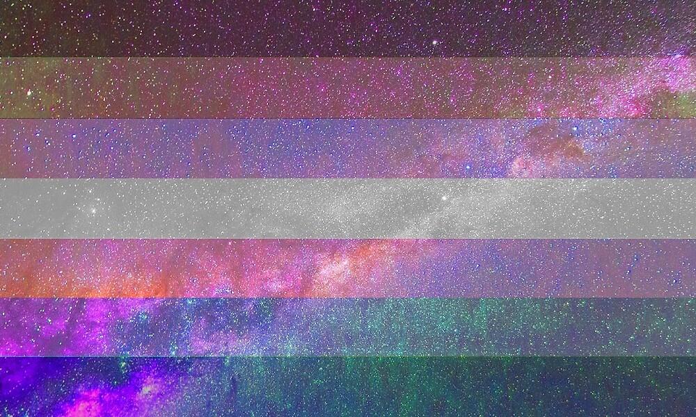 Bigender-Galaxie-Flagge von Ash Tomb