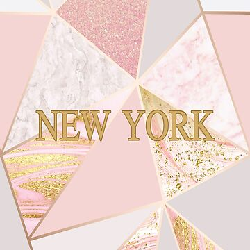 Rose Gold Trending Marble of New York  by Tetete