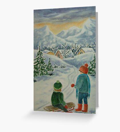 Joyful Winter Day Greeting Card