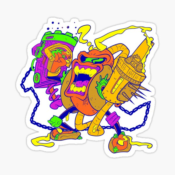 moutarderossa-drastarderozzo Sticker