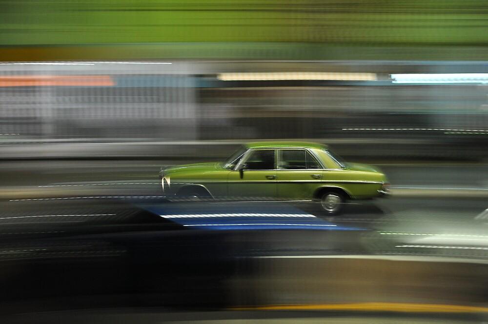 Car Panning Shot at Night by Jason McFarlane