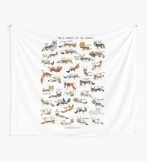 Wild Canids of the World Wall Tapestry