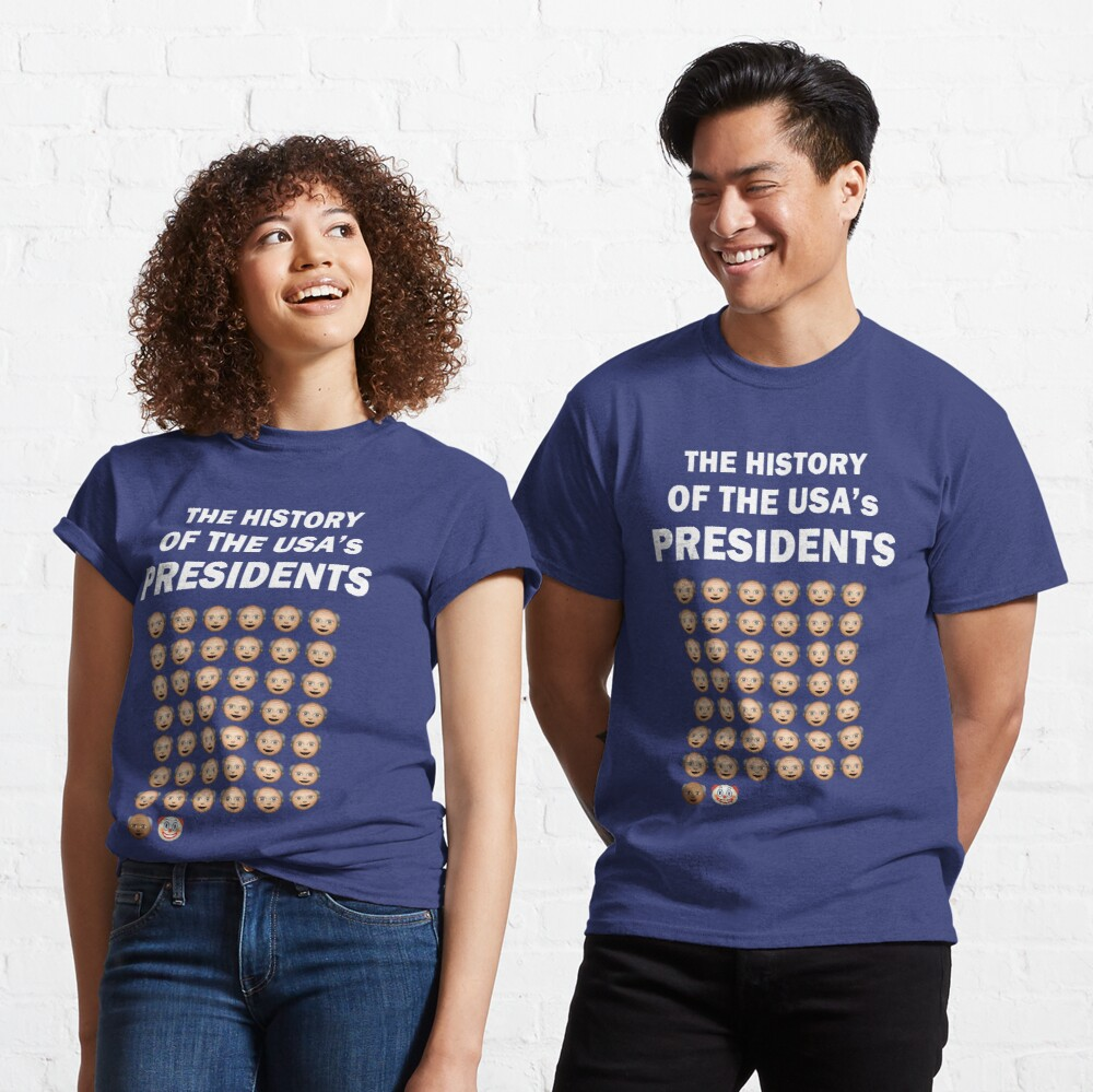 The History of The USA Presidents Emoji Style Classic T-Shirt