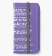 I am your host, your Ghost Host...(White) iPhone Wallet/Case/Skin
