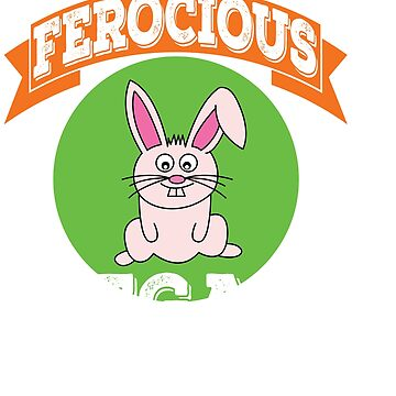 """Vegie-Eater Cutie Rabbit for every """"Ferocious Vegan"""" out there! Grab this awesome cute tee now! by Customdesign200"""