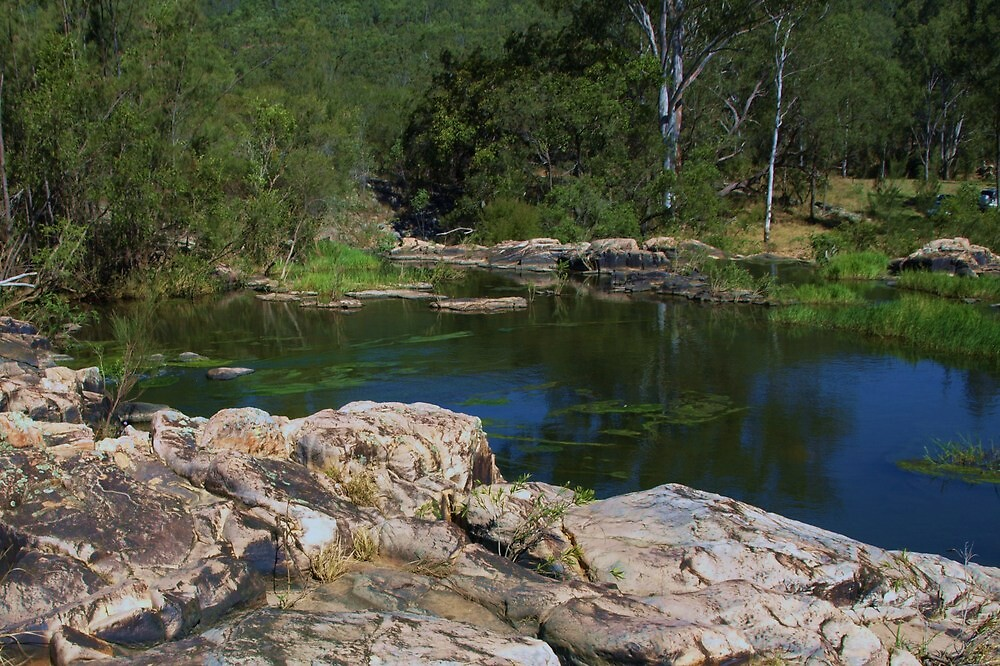 Above the Falls - Stream crossing - Esk - Queensland Australia by medley