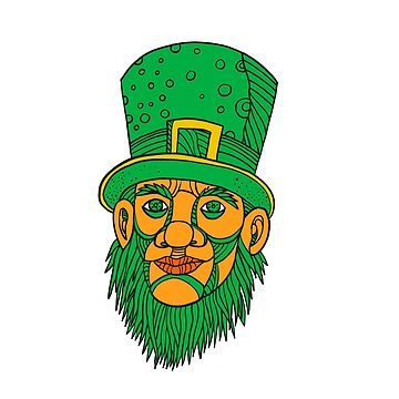 Irish Leprechaun Mono Line Color by patrimonio