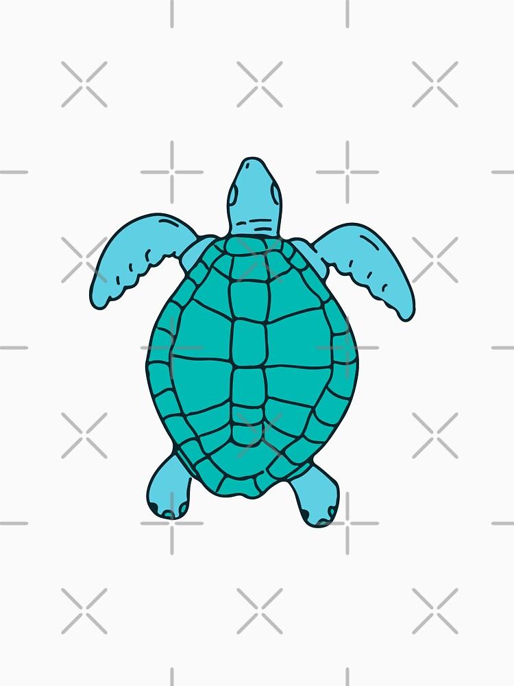 Sea Turtle Swimming Drawing by patrimonio