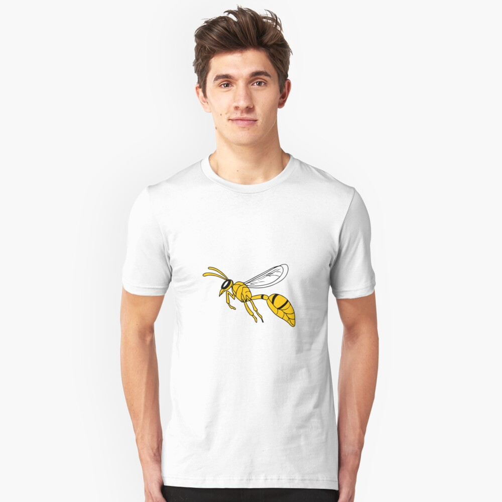 Wasp Flying Drawing Unisex T-Shirt Front
