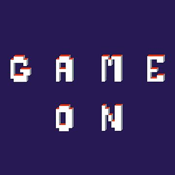 Game on pixel graphic text  by sarahtrett