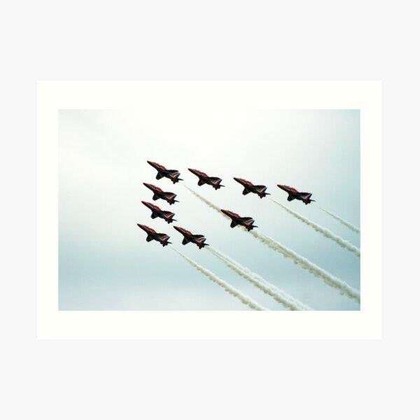RAF Aerobatic Team Art Print