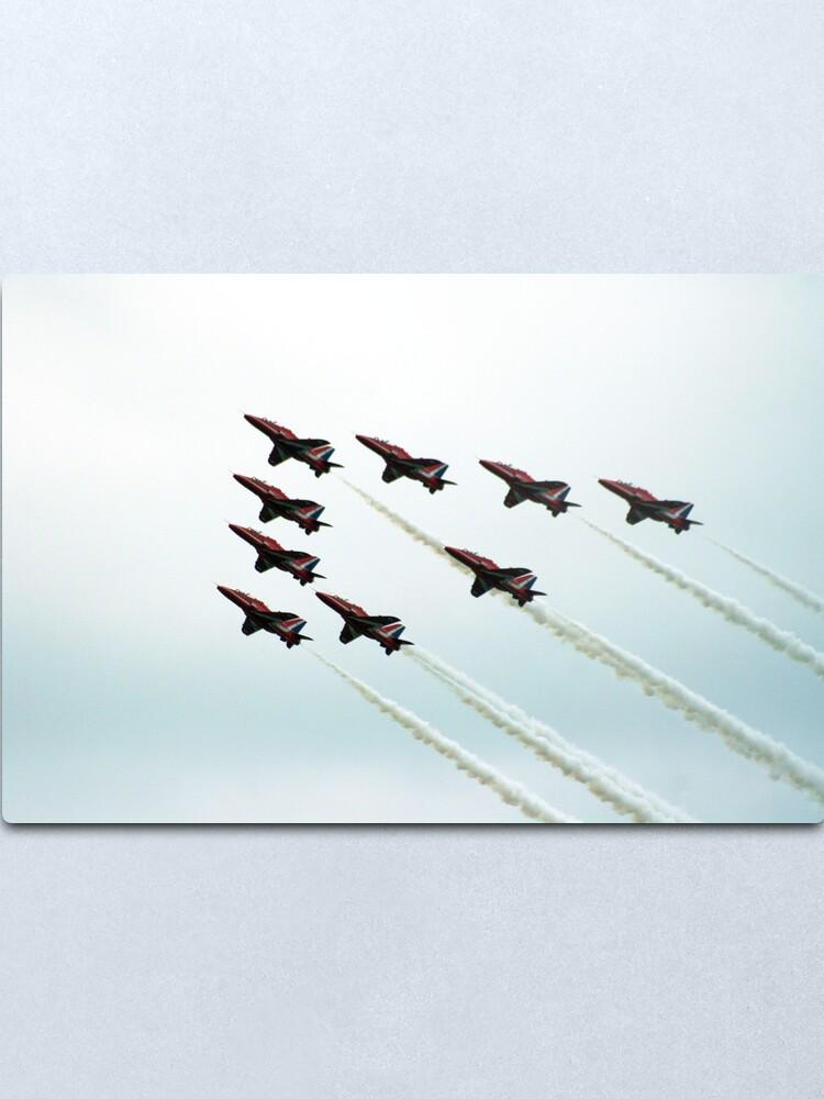 Alternate view of RAF Aerobatic Team Metal Print