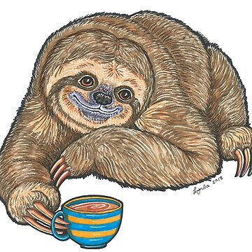 Coffee Sloth by LyndaBell