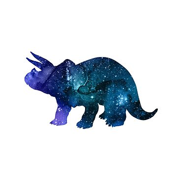 Artistic Dinosaur Silhouette (Triceratops) by GwendolynFrost