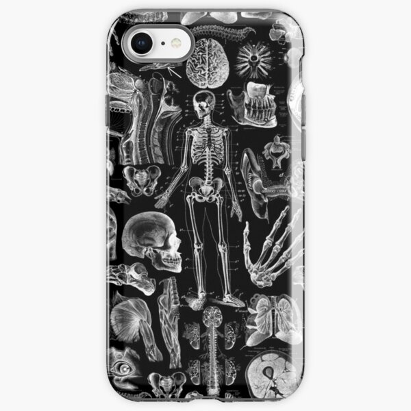 Human Anatomy Black Print iPhone Tough Case