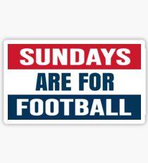 Sundays Are For Football Sticker