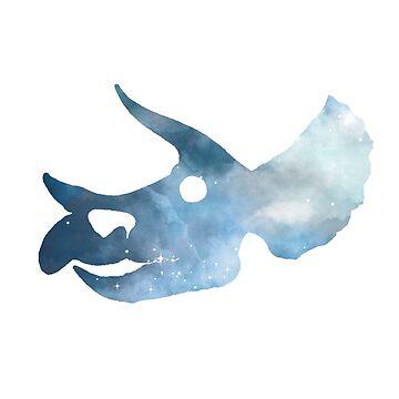 Dinosaur - Triceratops - Skull by GwendolynFrost