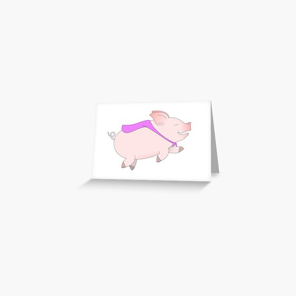 Pigs Can Fly! Greeting Card