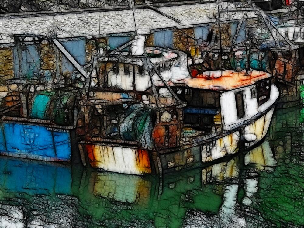 Fishing Boats - Polperro - Cornwall UK by cousinejack