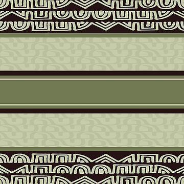 Sage green and brown tribal by hellcom