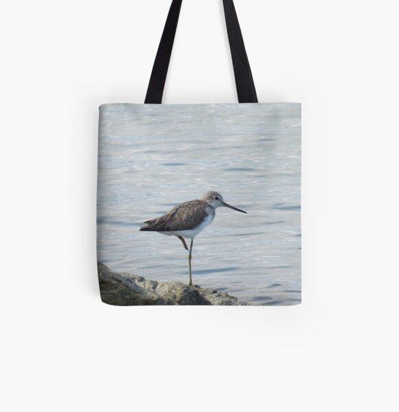 Common Greenshank All Over Print Tote Bag