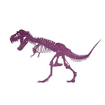 Tyrannosaurus Dinosaur Skeleton Silhouette by GwendolynFrost