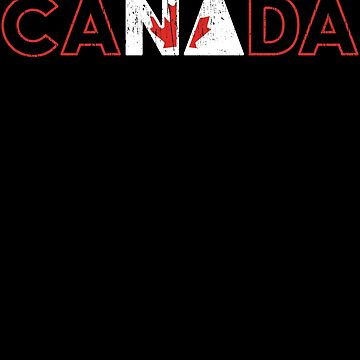 Canada beautiful country text design gift by tamerch