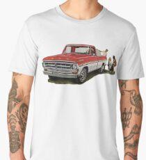 The Ford F100. 1970s Favourite Pickup!  Men's Premium T-Shirt