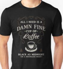 Schwarz wie Mitternacht Unisex T-Shirt