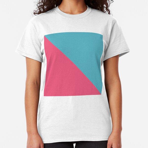 Dreiecke pink blau Classic T-Shirt