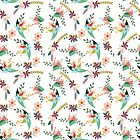 Floral Backdrop Patterns by mimio2009