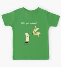 Let's get naked! (dark) Kids Tee