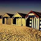 BORDERLINE BEACH HUTS by garry stokoe
