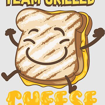 Team Grilled Cheese Art | Cute Love Grilled Cheddar Gift by NBRetail