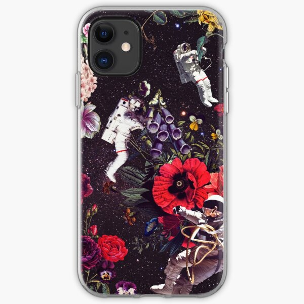 Flowers and Astronauts iPhone Soft Case