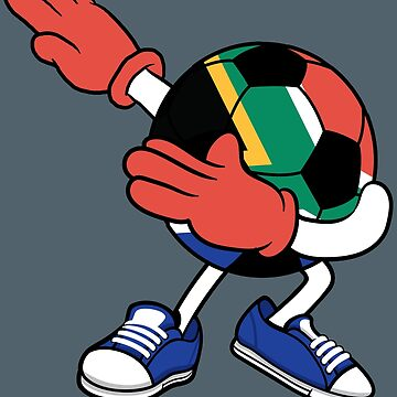 Dabbing Soccer South Africa Jersey Art - African Football by NBRetail